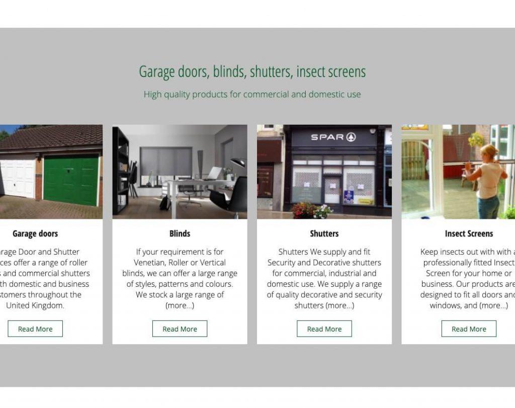 garage website