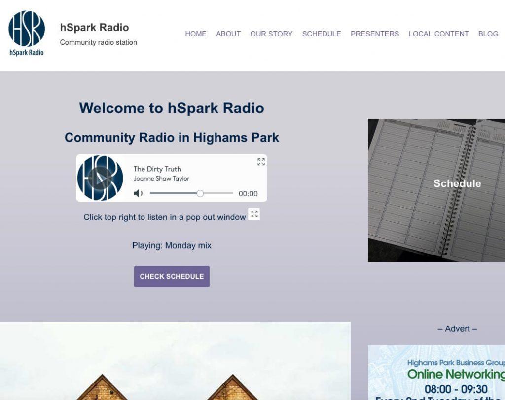 website example Highams Park radio
